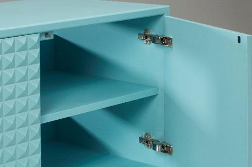 Corian cabinet door fixings